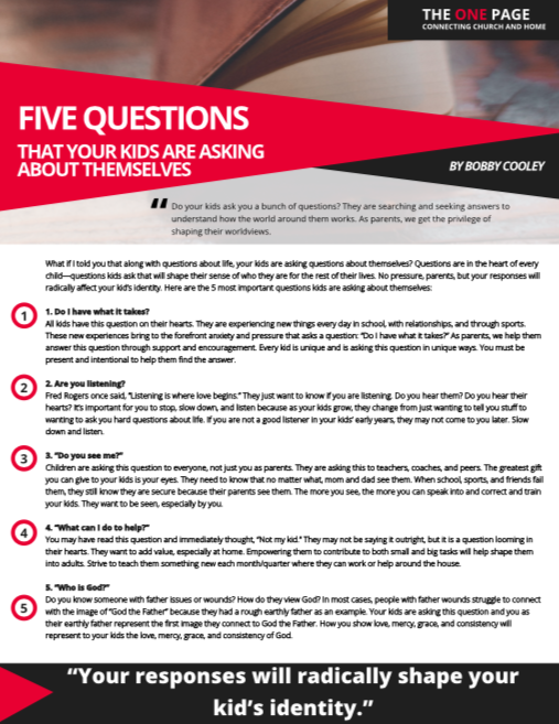 Five Questions Kids Ask Themselves